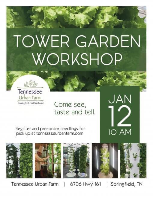 Tennessee Urban Farm | TG Workshop January 12, 2019